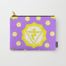 "ASTRAL VIOLET YELLOW SANSKRIT CHAKRAS  PSYCHIC WHEEL ""STRIVE"" Carry-All Pouch"