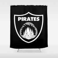 pirates Shower Curtains featuring Pirates  by Buby87