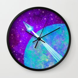 Off Planet Wall Clock