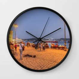 Istanbul At Night Wall Clock