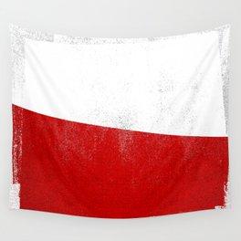 Polish Distressed Halftone Denim Flag Wall Tapestry