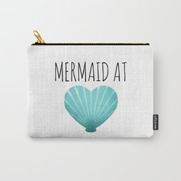 Mermaid At Heart  |  Teal Carry-All Pouch