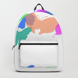 Colorful butterflies on white background Backpack