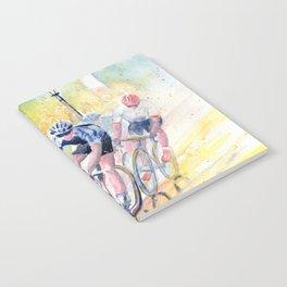 Colorful Bike Race Art Notebook