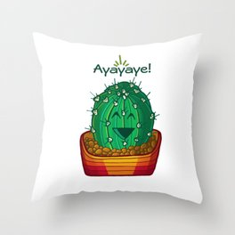 Ayayaye Cactus Ball Throw Pillow