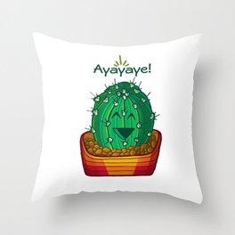 Ayayaye Cactus Ball Throw Pillow