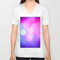bokeh V-neck T-shirts featuring Bokeh by Mauricio Santana