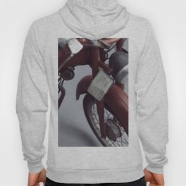 Fine art photography, old motorcycle, still life, vintage motorbike, Italy, mancave Hoody