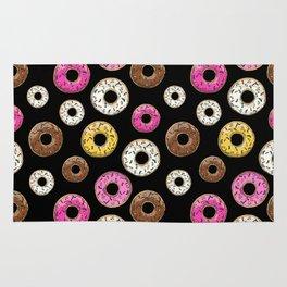 Donut Pattern - Black Rug