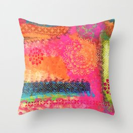 Bollywood Inspiration Throw Pillow
