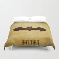 bat man Duvet Covers featuring Bat Man by whosyourdeddy