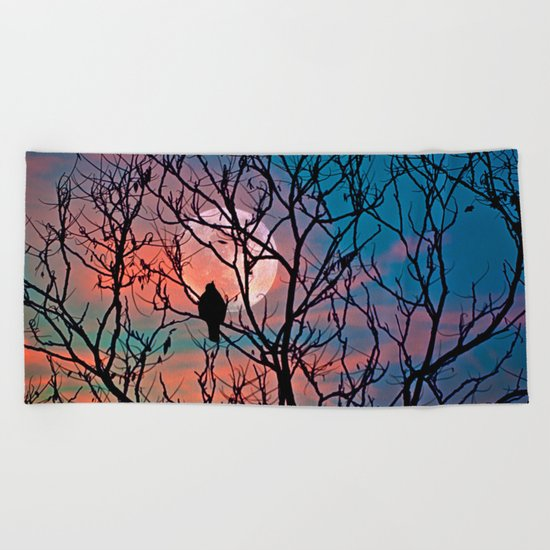 Another moonwatcher Beach Towel