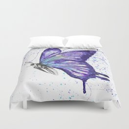 Lavender Butterfly Duvet Cover