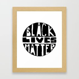 Black Lives Matter Filled Framed Art Print