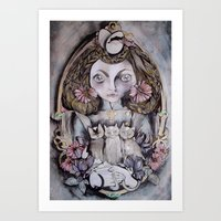 kittens Art Prints featuring Kittens by Medusa Rose