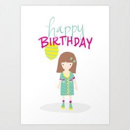Birthday Girl Art Print