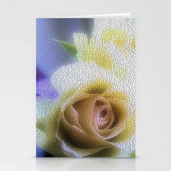 Old Love Gentle Rose - Pastel Vintage Mosiac Stationery Cards