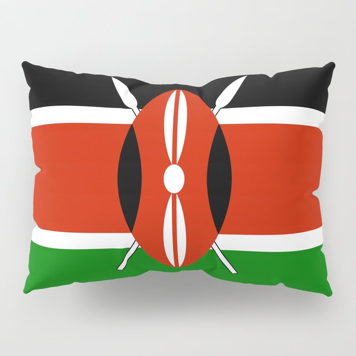 National flag of Kenya - Authentic version, to scale and color Pillow Sham