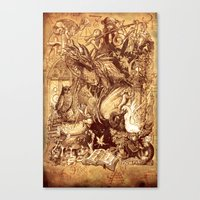 medieval Canvas Prints featuring Medieval by TheMagicWarrior