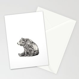 Bear // Graphite Stationery Cards
