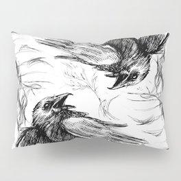 Crow Mirror Pillow Sham
