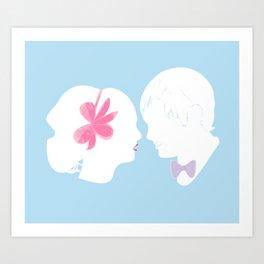C&B Silhouette Art Print