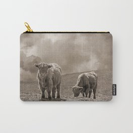 Scottish Highland Cattle and Clouds, No. 1 Carry-All Pouch
