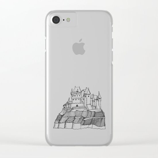 Castle on the cliff Clear iPhone Case