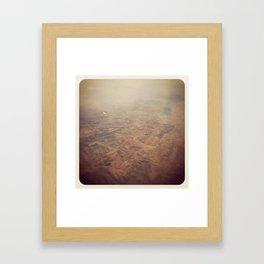 MARS IN MEXICO Framed Art Print
