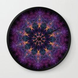 Leafy Mandala 2 Wall Clock
