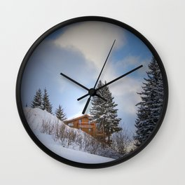 Chalet mountain cloud Wall Clock