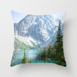 Lake Colchuck Throw Pillow