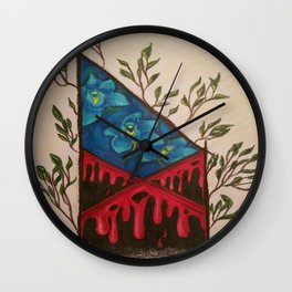 Red Tent Rune Wall Clock