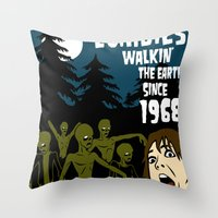 the walking dead Throw Pillows featuring Walking Dead by grawiton