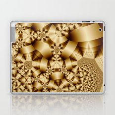 Golden shapes and patetrns in 3-D Laptop & iPad Skin