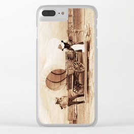 Old West Cowboy Cat and his Gal Clear iPhone Case