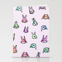 rabbits Stationery Cards featuring Rabbits by Darish
