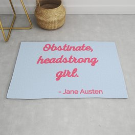 Pride and Prejudice Quote II - Cute Style Rug