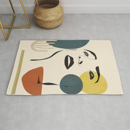 Abstract Face I Rug