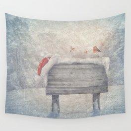 Winter wonderland birds  Wall Tapestry