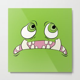 Little Green Monster Metal Print