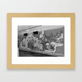 A Mission District Mural Framed Art Print