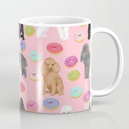 Toy Poodle donuts pet portrait dog breed dog pattern pet friendly dog lovers Coffee Mug