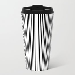 Black and White Dots and Stripes Travel Mug
