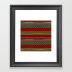 Traditional Romanian embroidery pixel Framed Art Print