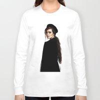 emma watson Long Sleeve T-shirts featuring Emma Watson by Cécile Pellerin