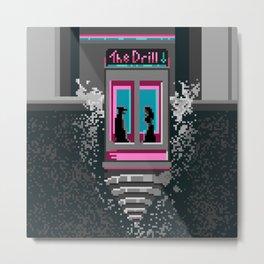 The Drill - Neon noir pixel art mystery Metal Print