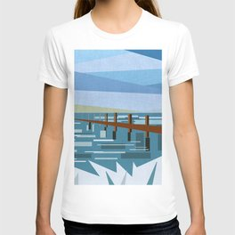 LOOKING AT THE SEA (abstract) T-shirt