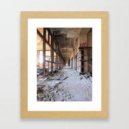 Packard Plant Hall Framed Art Print