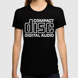 Compact Disk Digital Audio Logo - White T-shirt
